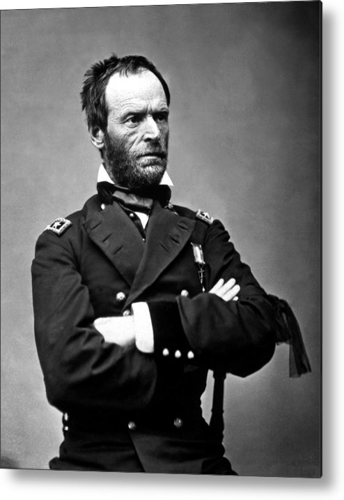 General Sherman Metal Print featuring the photograph General William Tecumseh Sherman by War Is Hell Store