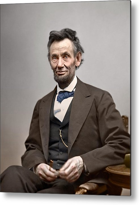 classic Metal Print featuring the photograph President Abraham Lincoln 6 by Retro Images Archive