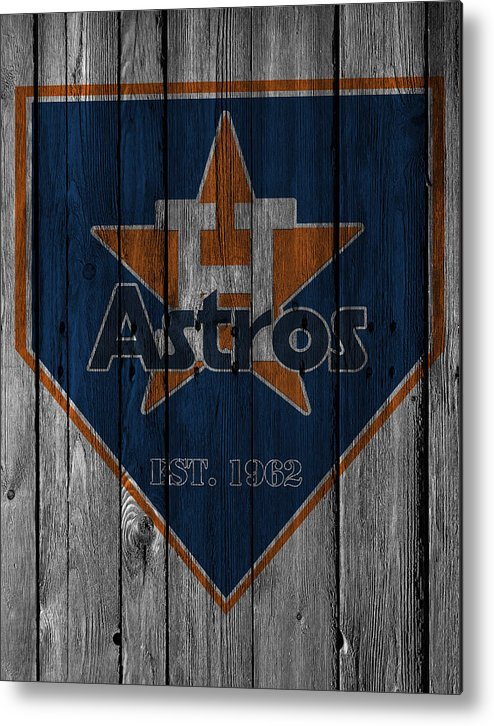 Astros Metal Print featuring the photograph Houston Astros by Joe Hamilton