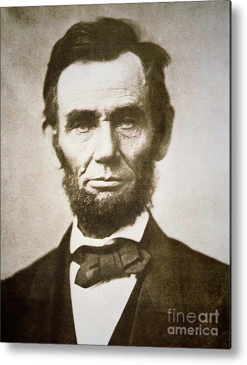 Abraham Metal Print featuring the photograph Abraham Lincoln by Alexander Gardner