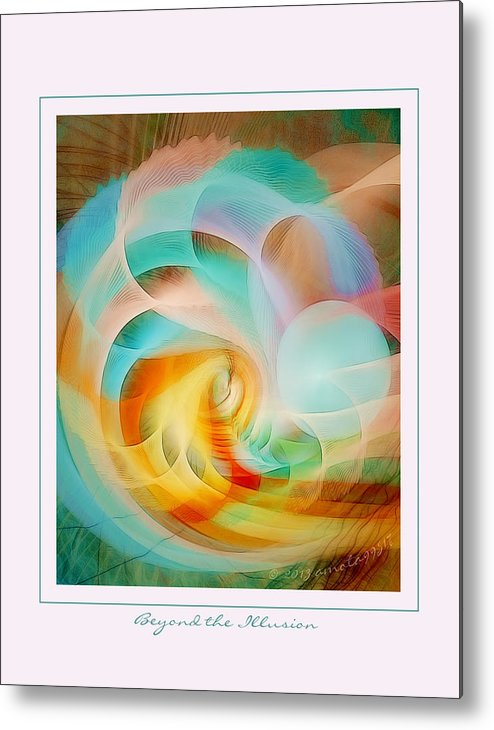 Fractal Metal Print featuring the digital art Beyond The Illusion by Gayle Odsather