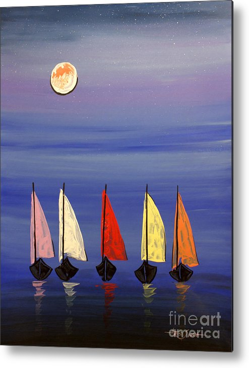 Artist Singh Metal Print featuring the painting Boats 3 by Artist SinGh