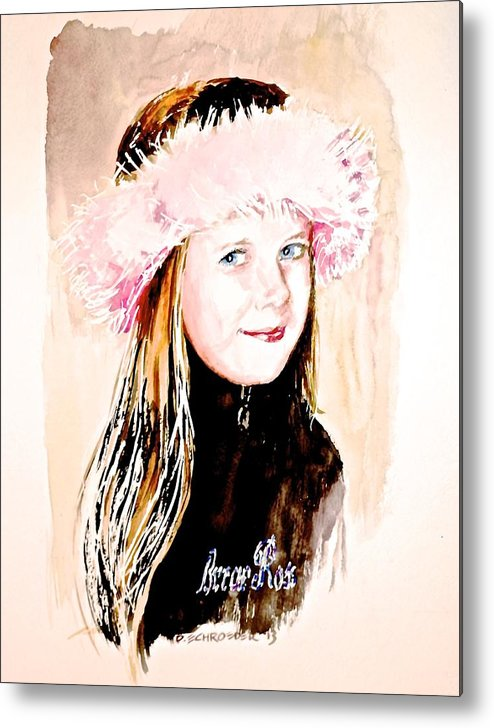 Pink Ring Metal Print featuring the painting Briar Rose by Don Schroeder
