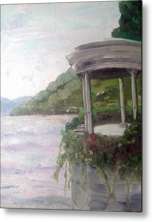 Italian Impressionist Art Metal Print featuring the painting Clooney's View by Linda Scott
