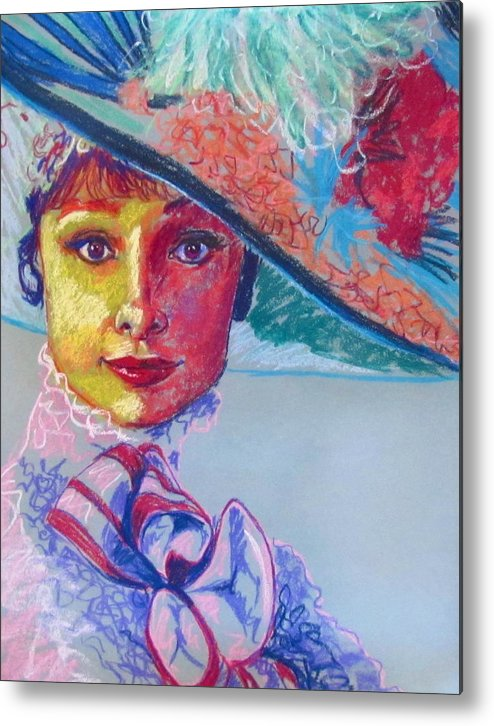 Audrey Hepburn Metal Print featuring the drawing Eliza Doolittle by Heather Bullach