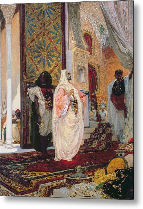 Entering The Harem Metal Print featuring the painting Entering The Harem by Georges Clairin