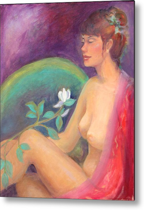 Figure Pose Metal Print featuring the painting Fragrance Of A Dream by Gwen Carroll