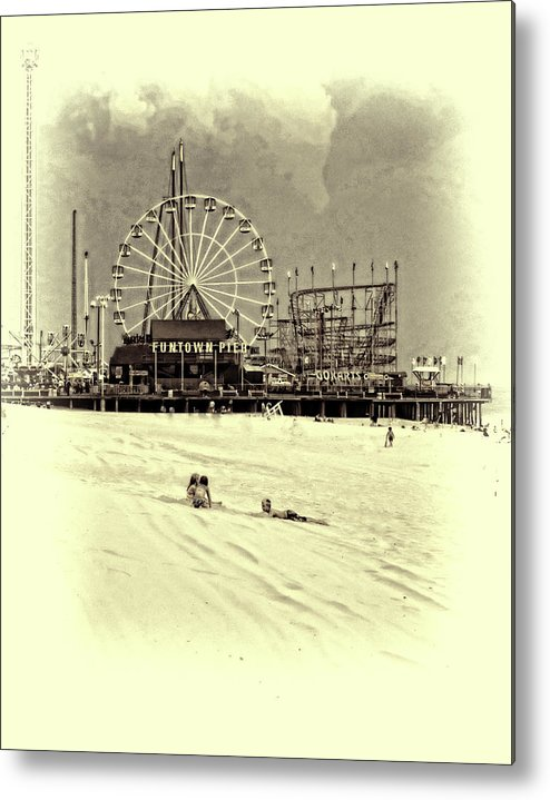 New Jersey Metal Print featuring the photograph Funtown Kids by Ron Schiller