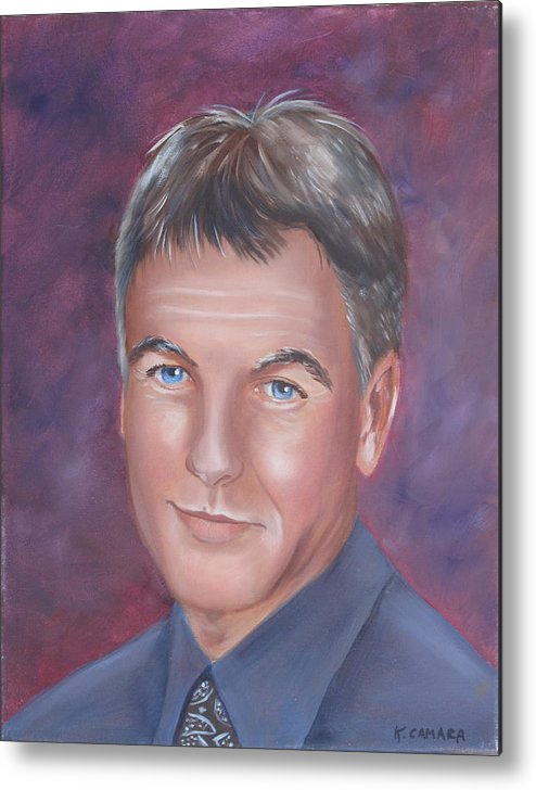 Portraits Metal Print featuring the painting Gibbs Of Ncis by Kathie Camara