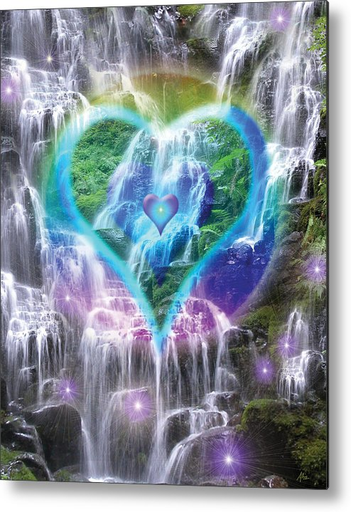 Heart Of Waterfalls Metal Print featuring the photograph Heart Of Waterfalls by Alixandra Mullins