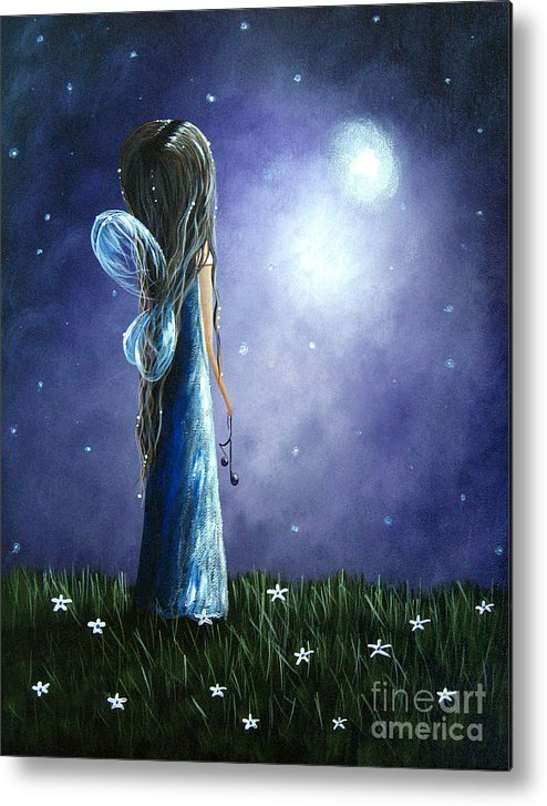 Angels Metal Print featuring the painting Heaven's Little Helper By Shawna Erback by Erback Art