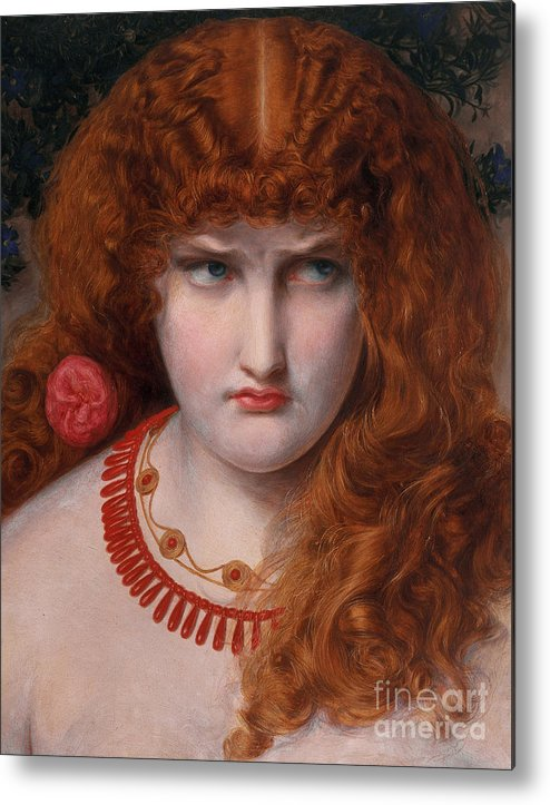 Helen Metal Print featuring the painting Helen Of Troy by Anthony Frederick Augustus Sandys