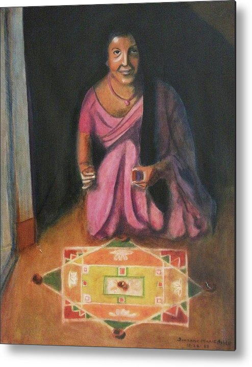 Hindu Metal Print featuring the painting Hindu Celebration by Suzanne Marie Leclair