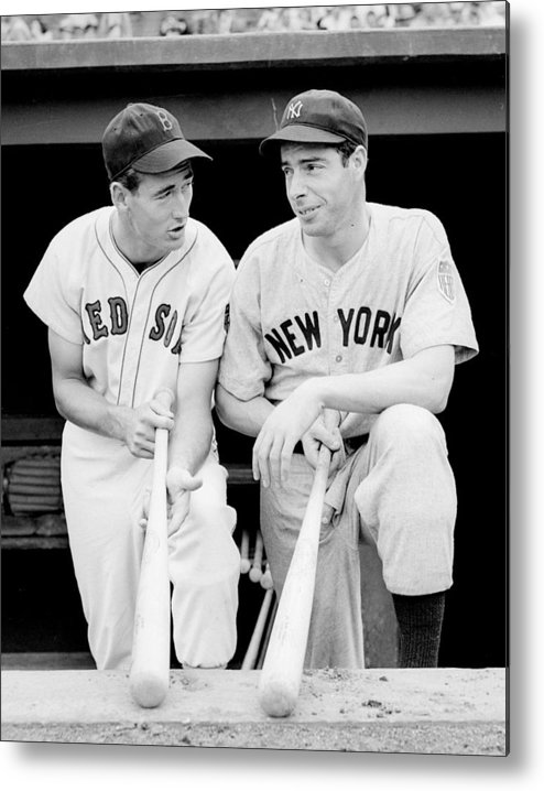 Joe Metal Print featuring the photograph Joe Dimaggio And Ted Williams by Gianfranco Weiss