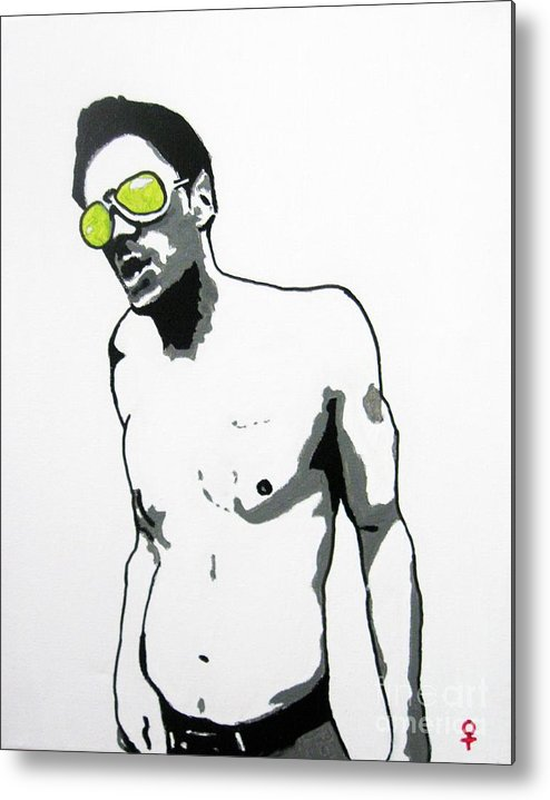 Johnny Knoxville Metal Print featuring the painting Johnny Knoxville by Venus