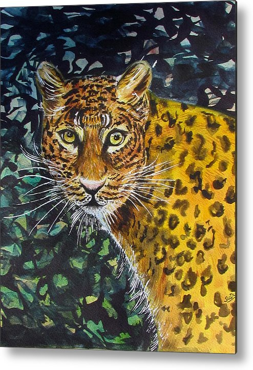 Feline Metal Print featuring the painting Jungle Cat by Susan Duxter