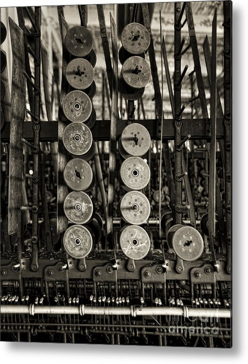 Spools Metal Print featuring the photograph Left by Claudia Kuhn