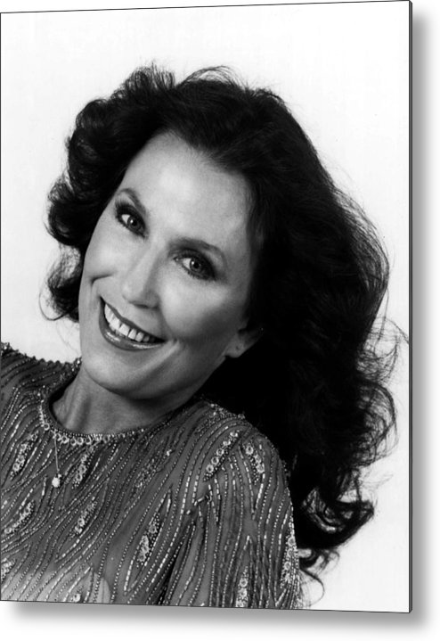 Retro Images Archive Metal Print featuring the photograph Loretta Lynn Close Up by Retro Images Archive