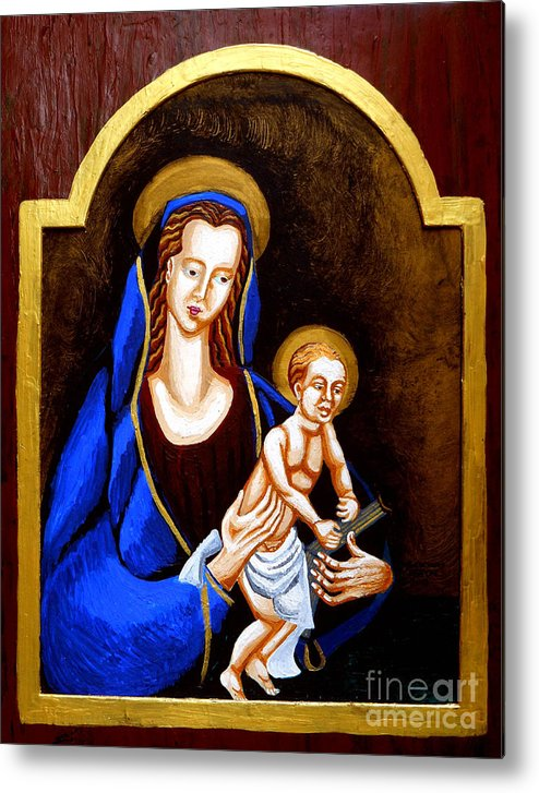 Madonna And Child Metal Print featuring the painting Madonna And Child by Genevieve Esson