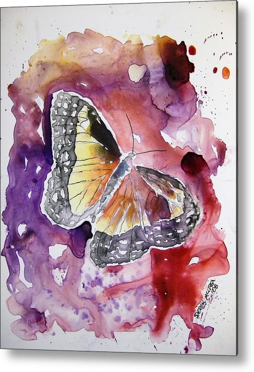 Monarch Metal Print featuring the painting Monarch Butterfly by Derek Mccrea