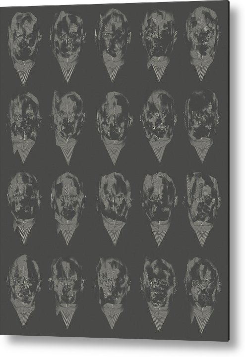 Glitch Metal Print featuring the digital art Monsters by Paul Large