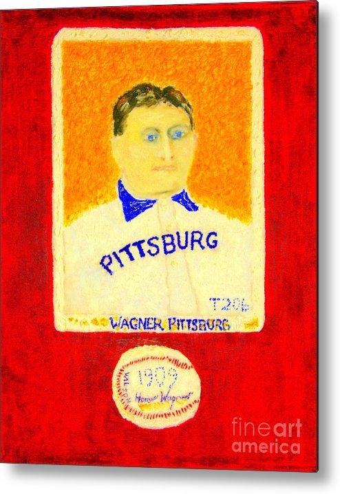 Most Expensive Baseball Card Honus Wagner T206 2 Metal Print