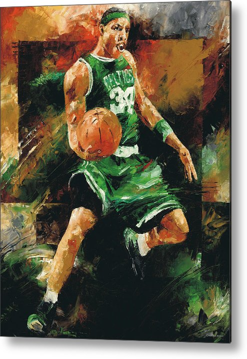 Paul Metal Print featuring the painting Paul Pierce by Christiaan Bekker