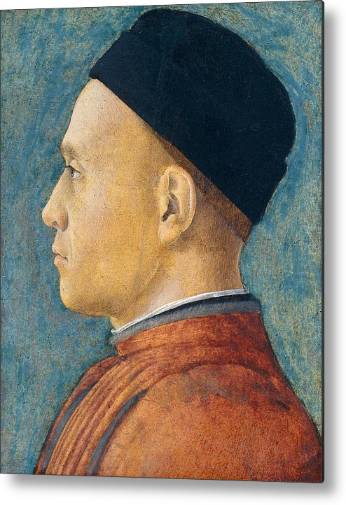Profile Metal Print featuring the painting Portrait Of A Man by Andrea Mantegna