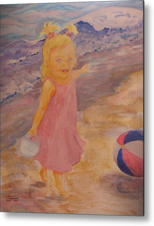 Sea Metal Print featuring the painting See by Sharon Casavant