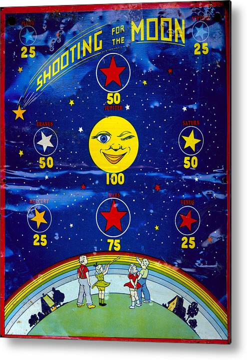 Game Metal Print featuring the photograph Shooting For The Moon by Francis Chapman
