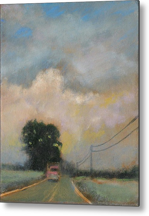 Landscape Paintings Metal Print featuring the painting Skysweep by David Zimmerman