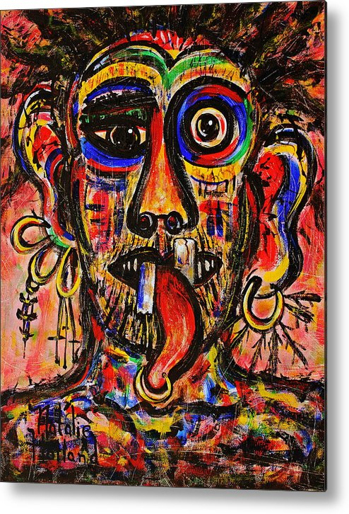 Expressionism Metal Print featuring the painting Tattooist by Natalie Holland