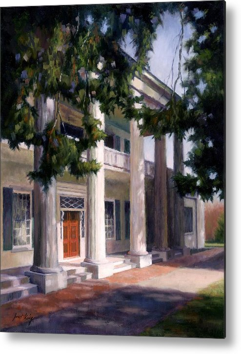 Architecture Metal Print featuring the painting The Hermitage by Janet King