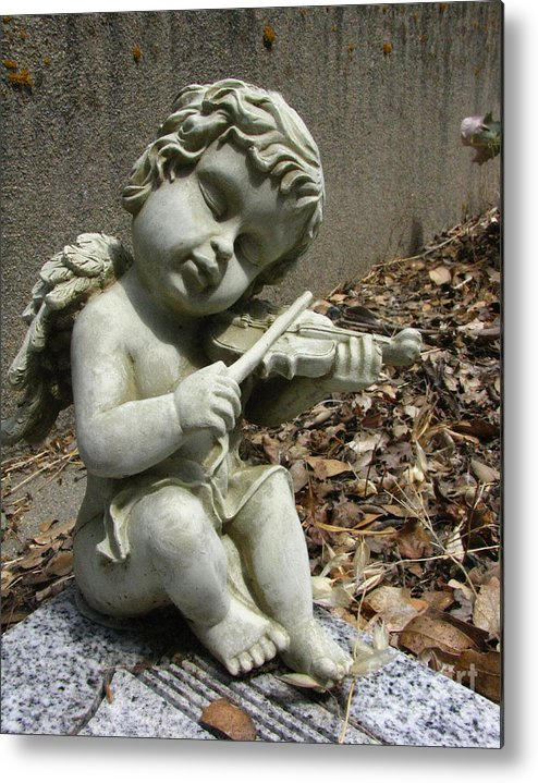 Cupid Metal Print featuring the photograph The Musician 04 by Peter Piatt