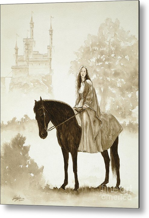 Fantasy Metal Print featuring the painting The Princess Has A Day Out. by John Silver