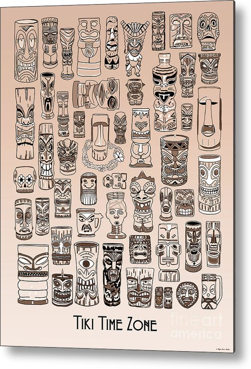 Ancient Relic Metal Print featuring the digital art Tiki Sand Zone by Megan Dirsa-DuBois