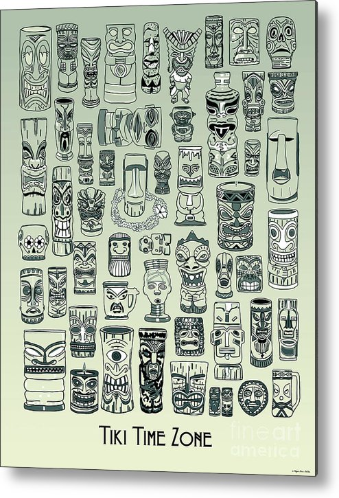 Ancient Relic Metal Print featuring the digital art Tiki Treasure Zone by Megan Dirsa-DuBois