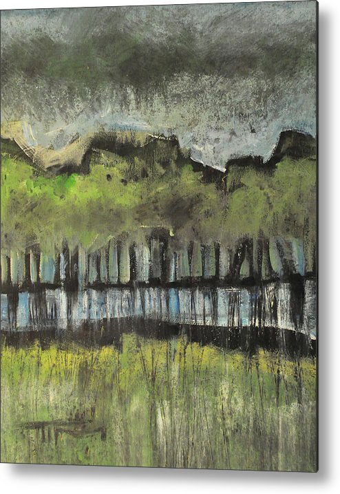 Trees Metal Print featuring the painting Trees By A Stream by Tim Nyberg