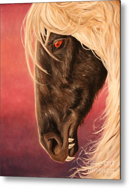 Steed Metal Print featuring the painting Vampire's Steed by Alisa Bogodarova