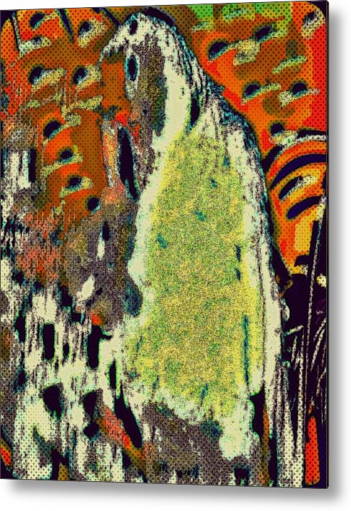 Parrot Metal Print featuring the mixed media Walk With Birds by YoMamaBird Rhonda