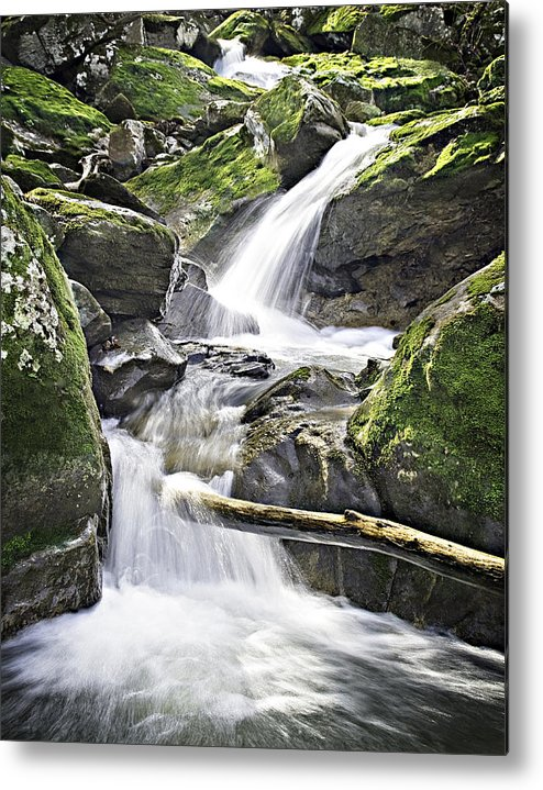 Arkansas Metal Print featuring the photograph 0804-0035 Cascade Above Triple Falls by Randy Forrester