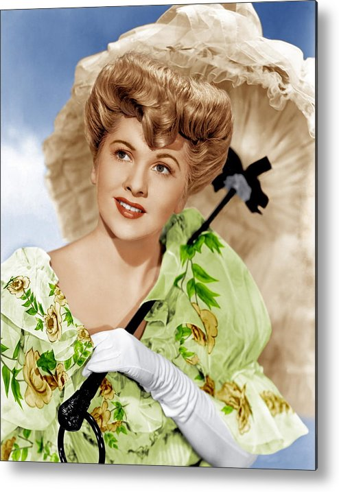 1940s Portraits Metal Print featuring the photograph The Emperor Waltz, Joan Fontaine, 1948 by Everett