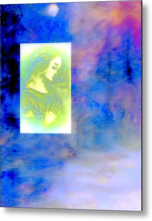Winter Winter Solstice.dreamworld..fantasy.etheral..women..life. Metal Print featuring the painting Winter Solstice by FeatherStone Studio Julie A Miller