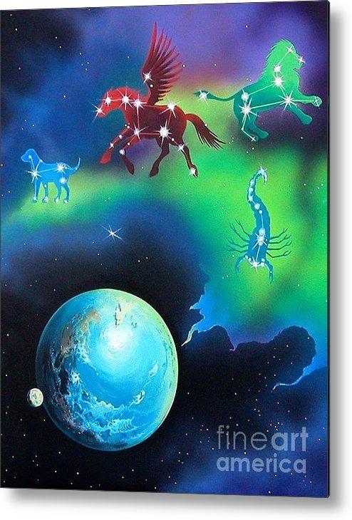 Fantasy Metal Print featuring the painting Constellations by Kimberlee Ketterman Edgar