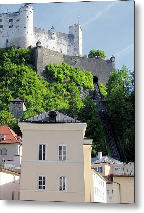 Salzburg Metal Print featuring the photograph Guardian by Jenny Hudson