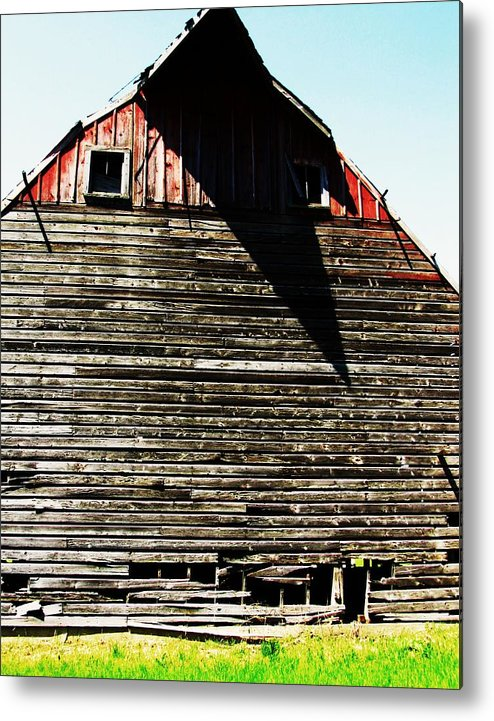 Barn With Shadows Metal Print featuring the photograph High Noon by Todd Sherlock