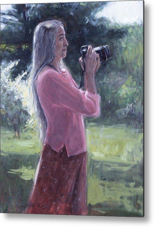 Sarah Yuster Metal Print featuring the painting I. Bohorquez by Sarah Yuster