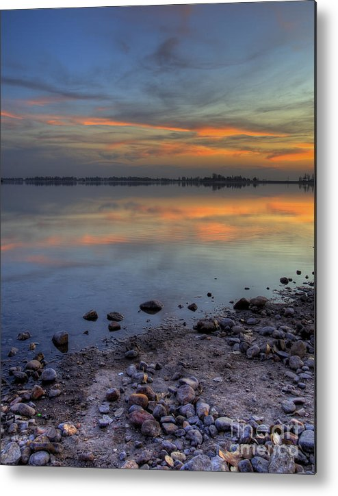 Lake Metal Print featuring the photograph Lake Sunset by Jim And Emily Bush