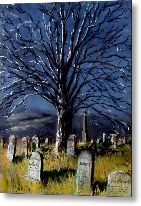 Cemetary Metal Print featuring the painting Left Alone by Jack Skinner