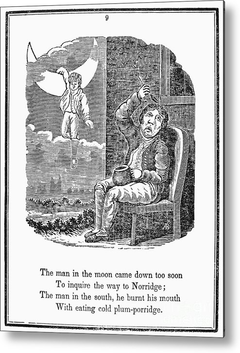 1833 Metal Print featuring the photograph Man In The Moon, 1833 by Granger